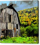 Mysterious Barn Acrylic Print by Barry Shaffer