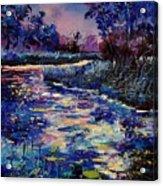 Mysterious Blue Pond Acrylic Print
