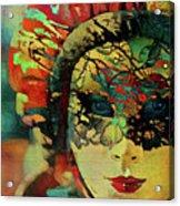 Mysterious Mask Acrylic Print