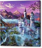 Mystery Castle Acrylic Print by David Lloyd Glover