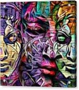 Mystic City Faces - Version B  Acrylic Print