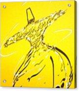 Mystic Dancer In Yellow Acrylic Print by Faraz Khan
