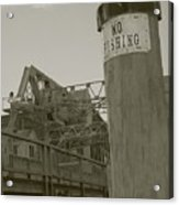 Mystic Drawbridge No Fishing Acrylic Print