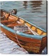 Mystic Fishing Boat Acrylic Print