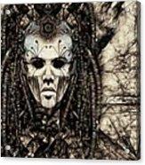 Mystic Future And Past - Ion Prophecies - Monotone  Acrylic Print