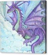 Mystic Ice Palace Dragon Acrylic Print