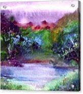 Mystic Lake Acrylic Print