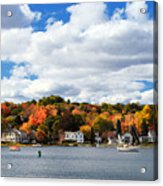 Mystic River In Autumn Acrylic Print