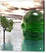 Mystic Surreal In Green Acrylic Print