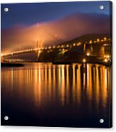 Mystical Golden Gate Bridge Acrylic Print