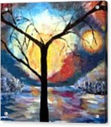 Mystical Twilight Forest Acrylic Print