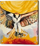 Mythical Eagle Perching Oil Painting Acrylic Print