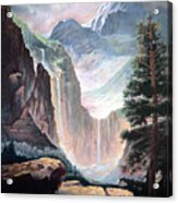 Mythical Valley Falls Acrylic Print