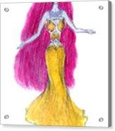 Mzia Meisouri. Beauty Girl From Space Acrylic Print