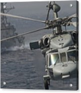 N Mh-60s Knight Hawk Delivers Supplies Acrylic Print