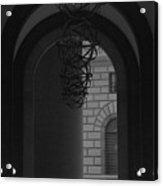 N Y C Lighted Arch Acrylic Print
