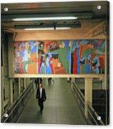 N Y C Subway Scenes # 45 Acrylic Print