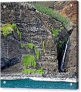 Na Pali Waterfall Acrylic Print