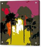 Na Palms Acrylic Print