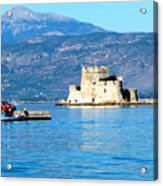 Naflion Greece Harbor Fortress Acrylic Print