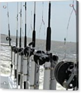 Nags Head Nc Fishing Poles Acrylic Print