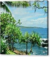 Nahiku Kaelua Hanawi Honolulunui Maui Hawaii Acrylic Print