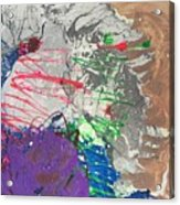 Nail Polish Abstract 15-u11 Acrylic Print