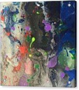 Nail Polish Abstract 15-w11 Acrylic Print