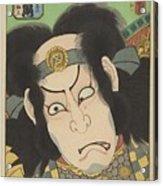 Nakamura Utaemon IIi In De Rol Van Gotobei Moritsugu, Kunisada I, Utagawa, 1863 Acrylic Print