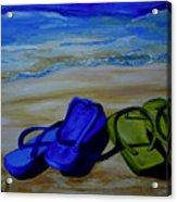 Naked Feet On The Beach Acrylic Print by Patti Schermerhorn