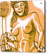 Naked Goddess Acrylic Print