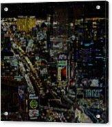 Naked Moon Over The Strip Acrylic Print