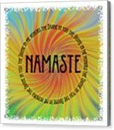 Namaste Divine And Honor Swirl Acrylic Print
