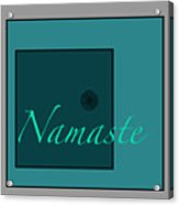 Namaste In Blue Acrylic Print