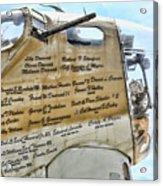 Names On B-17 Acrylic Print