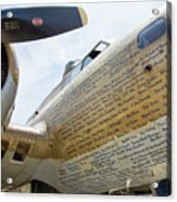 Names Pilots B-17 Acrylic Print