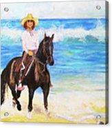 Nancy And Stormy Acrylic Print
