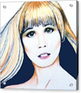 Nancy No Nose Acrylic Print