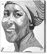 Nanna Smiles Acrylic Print