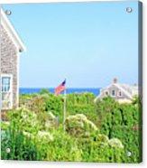 Nantucket Cottages Overlooking The Sea Acrylic Print