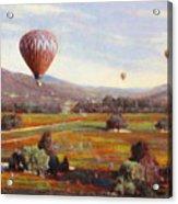Napa Balloon Autumn Ride Acrylic Print