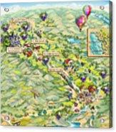 Napa Valley Illustrated Map Acrylic Print