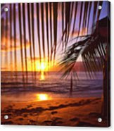 Napili Bay Sunset Maui Hawaii Acrylic Print