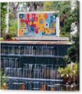 Naples Botanical Waterfall - Refreshing Garden Acrylic Print