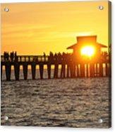 Naples Florida Sunset Pier Acrylic Print