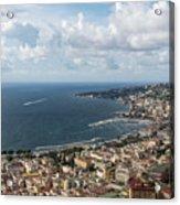 Naples Italy Aerial Perspective - Coastal Beauty Of Mergellina, Posillipo And Marechiaro Acrylic Print