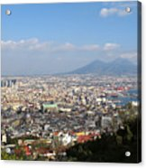 Naples Panoramic View Acrylic Print by Kiril Stanchev