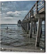 Naples Pier And Beach Fun Acrylic Print