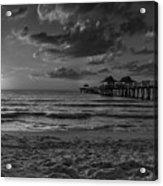 Naples Pier Bw  Acrylic Print