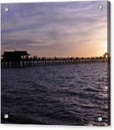 Naples Pier Sundown Acrylic Print